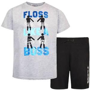 Σετ μπλούζα με κοντό παντελόνι αγόρι σταμπωτό Boss Energiers
