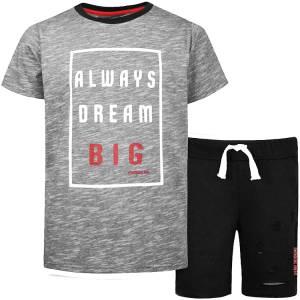Σετ μπλούζα με κοντό παντελόνι αγόρι σταμπωτό Dream Energiers