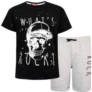 Σετ μπλούζα με κοντό παντελόνι αγόρι σταμπωτό Cool Energiers