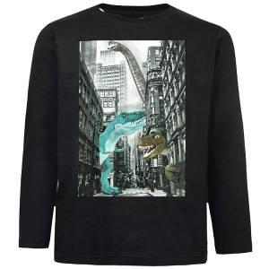 Μπλούζα με μακρύ μανίκι για αγόρι σταμπωτή δεινοσαυροι Energiers