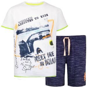 Σετ μπλούζα με κοντό παντελόνι αγόρι σταμπωτό Car Energiers