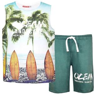 Σετ μπλούζα αμάνικη με κοντό παντελόνι αγόρι Energiers