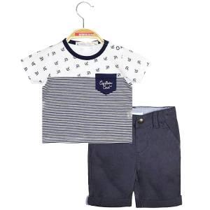 Σετ μπλούζα με κοντό παντελόνι βρεφικό αγόρι Energiers