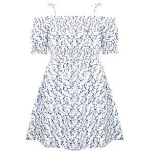 Φόρεμα κορίτσι σταμπωτό φωλιά μέλισσα Energiers