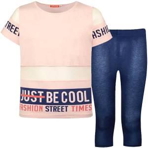 Σετ μπλούζα και κολάν για κορίτσι σταμπωτό street Energiers