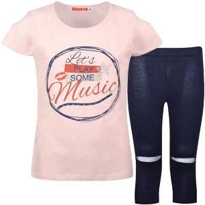 Σετ μπλούζα και κολάν για κορίτσι σταμπωτό play Energiers
