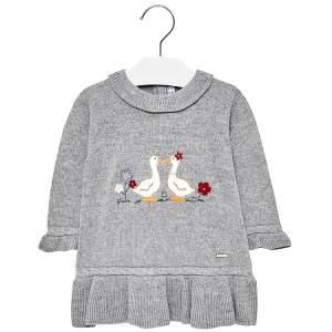 Φόρεμα πλεκτό χήνες για baby κορίτσι MAYORAL