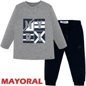 Σετ μπλούζα μακό και φούτερ παντελόνι αγορίστικο Mayoral