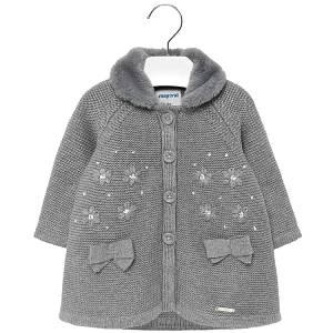 Παλτό πλεκτό για baby κορίτσι Mayoral