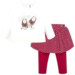 Σετ κολάν με φούστα και μπλούζα baby κορίτσι Shoes Mayoral