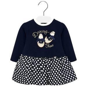 Φόρεμα συνδυασμένο πουά baby κορίτσι Mayoral
