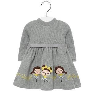 Φόρεμα πλεκτό με ζώνη baby κορίτσι Mayoral