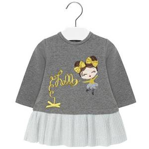 Φόρεμα συνδιασμένο φούτερ με τούλι baby κορίτσι Mayoral