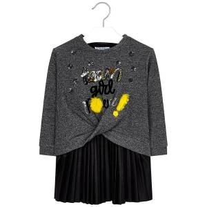 Φόρεμα πλισέ και φούτερ κοριτσίστικο Mayoral