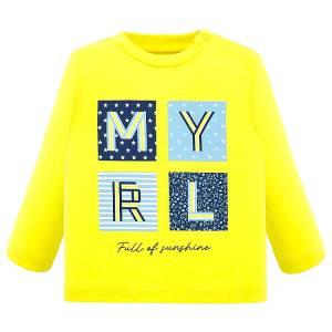 Μπλούζα βρεφική για αγόρι με μακρύ μανίκι μακό με μεταξοτυπία Letters MAYORAL