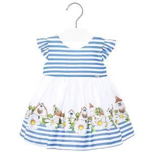 Φόρεμα βρεφικό κορίτσι Σπιτάκια MAYORAL