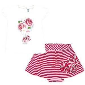 Σετ μπλούζα και φούστα με ριγέ τύπωμα βρεφικό κορίτσι MAYORAL
