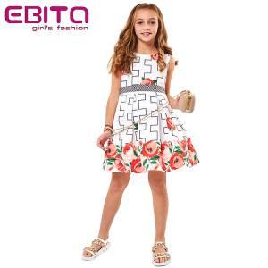Φόρεμα για κορίτσι σταμπωτό ποπλίνα EBITA
