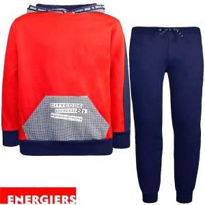 Φόρμα φούτερ αγορίστικη με στάμπα και κουκούλα Energiers