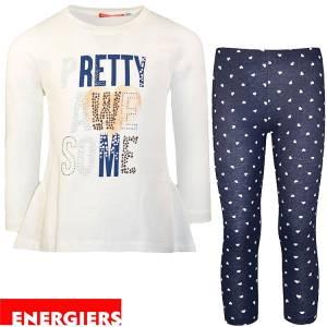 Σετ μπλούζα και κολάν κορίτσι με στάμπα Awesome Energiers