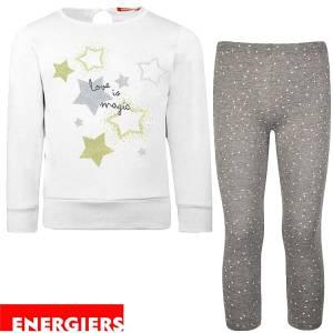 Φόρμα φούτερ με κολάν κοριτσίστικη με τύπωμα Magic Energiers