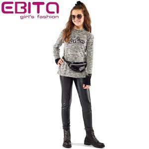 Παντελόνι τύπου κολάν κοριτσίστικο δερματίνη Ebita Fashion