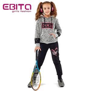 Φόρμα φούτερ κοριτσίστικη με στάμπα εμπριμέ Ebita Fashion