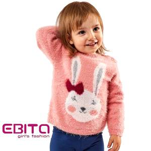 Πουλόβερ για κορίτσια με ζωάκι Ebita fashion