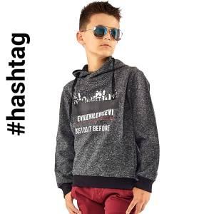 Μπλούζα μακρυμάνικη αγορίστικη με κουκούλα Hashtag