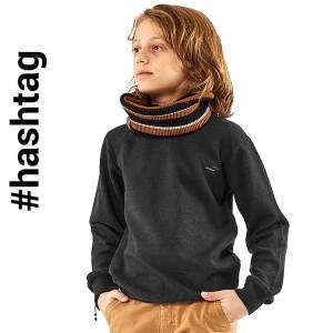 Μπλούζα μακρυμάνικη αγορίστικη με σηματάκι Hashtag