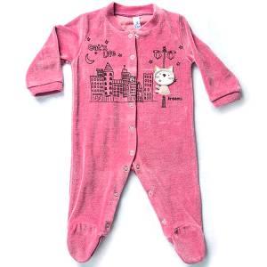 Φορμάκι βρεφικό για baby κορίτσι ύφασμα βελούδο Life Dreams