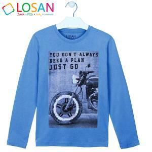 Μπλούζα μακρυμάνικη αγορίστικη με στάμπα bike Losan