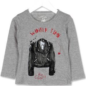 Μπλούζα μακρυμάνικη κοριτσίστικη με στάμπα winter Losan