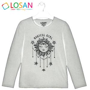 Μπλούζα μακρυμάνικη κοριτσίστικη με στάμπα Sun Losan