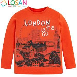 Μπλούζα μακρυμάνικη αγορίστικη με στάμπα city Losan