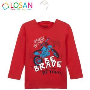 Μπλούζα μακρυμάνικη αγορίστικη με στάμπα brave Losan
