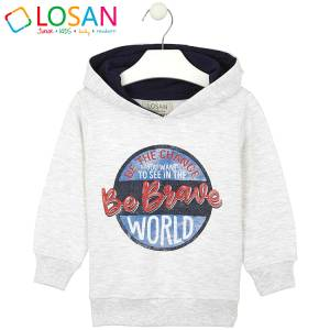 Μπλούζα φούτερ αγορίστικη με στάμπα World Losan