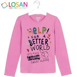 Μπλούζα μακρυμάνικη κοριτσίστικη με στάμπα better Losan