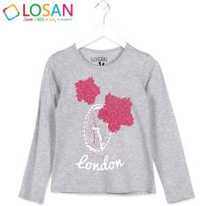 Μπλούζα μακρυμάνικη κοριτσίστικη με στάμπα Dream Losan