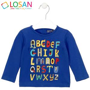 Μπλούζα μακρυμάνικη αγορίστικη με στάμπα γράμματα Losan
