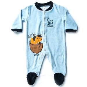 Φορμάκι βρεφικό για baby αγόρι ύφασμα βελούδο Upon Dreams