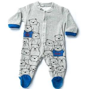 Φορμάκι βρεφικό για baby αγόρι ύφασμα βελούδο αρκουδάκια Dreams