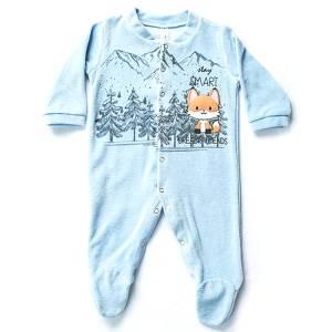 Φορμάκι βρεφικό για baby αγόρι ύφασμα βελούδο Smart Dreams