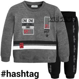 Φόρμα φούτερ αγορίστικη με στάμπα Shoot Hashtag