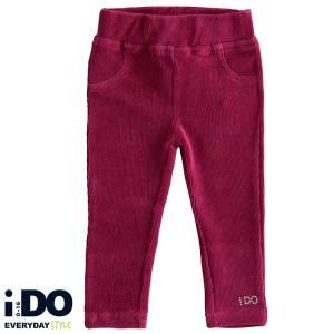 Παντελόνι μακρύ βελούδο ριγέ τύπου κολάν κοριτσίστικο IDO