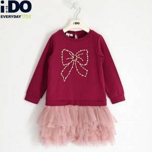 Φόρεμα κοριτσίστικο με πούλιες Φιόγκος IDO