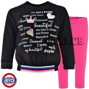 Φόρμα φούτερ με κολάν κοριτσίστικη με τύπωμα Beautiful JOYCE