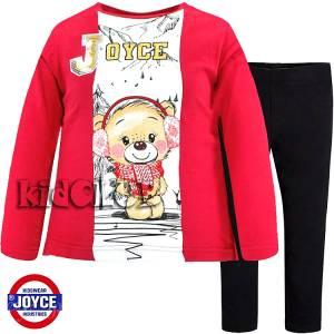Σετ μπλούζα και κολάν κορίτσι με στάμπα αρκουδάκι Joyce