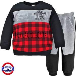 Φόρμα φούτερ αγορίστικη με στάμπα Style Joyce