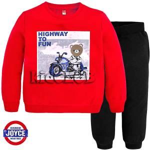 Φόρμα φούτερ αγορίστικη με στάμπα Highway Joyce